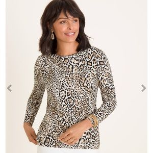 Chico's Animal-Print Essential Layer Top